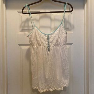 Anthropologie White Baby Doll Top